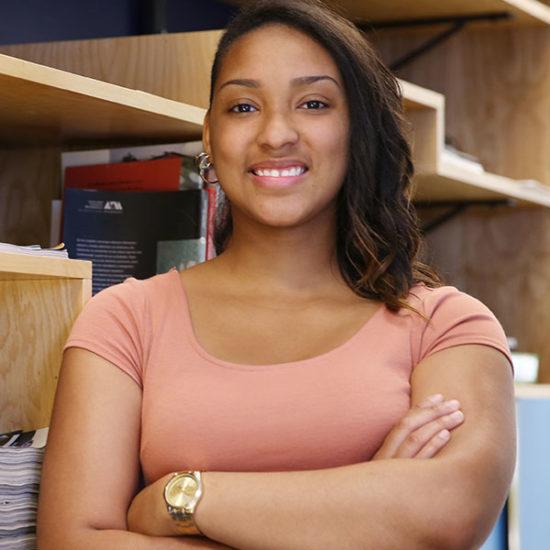 peer leader student posing