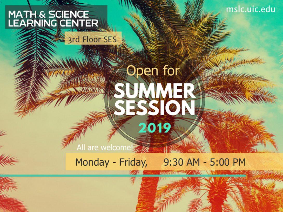 MSLC summer hours flyer