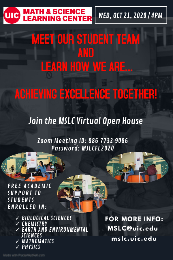 Oct 21, 2020 MSLC Virtual Open House