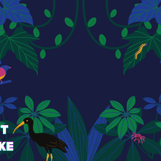 graphical image with animals and plants
